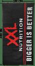XXL Nutrition Strandlaken Zwart