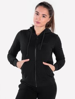 Women's Essential Jacket & Jogger Schwarz