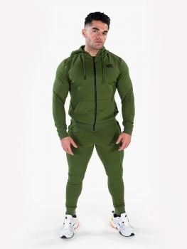 XXL Sportswear Men's Essential Jacket & Jogger - Army Green