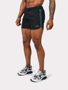 XXL Sportswear Gym short - Black / petrol