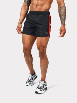 XXL Sportswear gym short - Black / fiery red