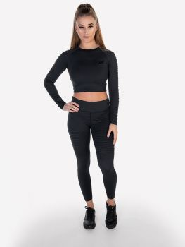 XXL Sportswear Ribbed Crop Top & Legging - Anthracite