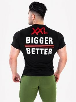 XXL Nutrition O-neck T-shirt Bigger is Better - Black