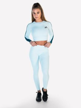 XXL Sportswear Ribbed Crop Top & Legging - Ballad Blue