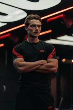Pre-match T-shirt - Black/Red
