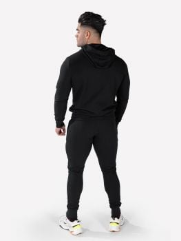 Men's Essential Jacket & Jogger Black