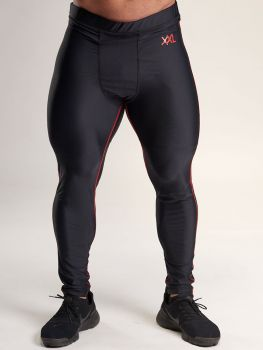 XXL Sportswear Compression Pants - Black/Red