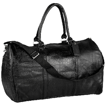 Croco Leather Bag - Black