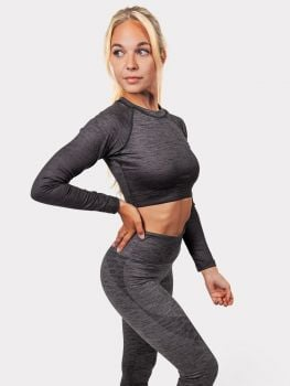 Fade Out - Legging + Crop top - Midnight Grey