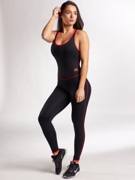 XXL Sportswear Jumpsuit Black/Red