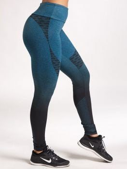 XXL Sportswear Legging Fade Out - Lagune Green