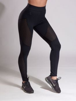 XXL Sportswear Legging Mesh High Waist - Black