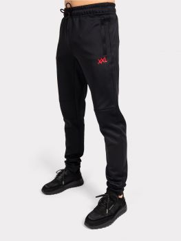 Malelions XXL Sportswear pants - black red