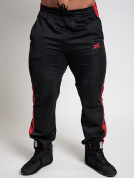 XXL Sportswear Mesh Pants Bigger is Better - Black/Red