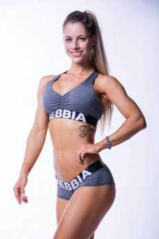 Nebbia Mini Top 223 - Grey melange