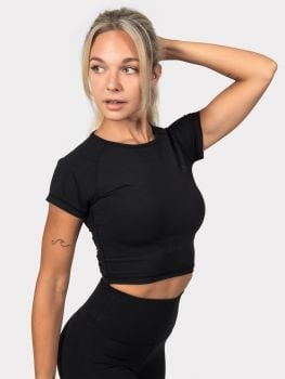 XXL Sportswear Motion Crop Top - Black