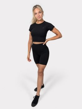 Motion Crop Top - Zwart