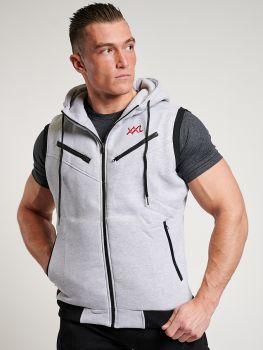 XXL Sportswear Sleeveless Hoodie - Grey