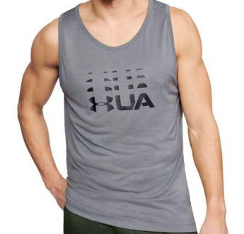 Under Armour Tech Graphic Tank - Grey