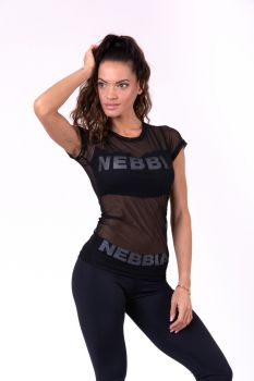 Nebbia Mesh T-Shirt 665 - Black