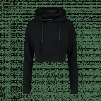 XXL Sportswear Women's essential Cropped hoodie – Black