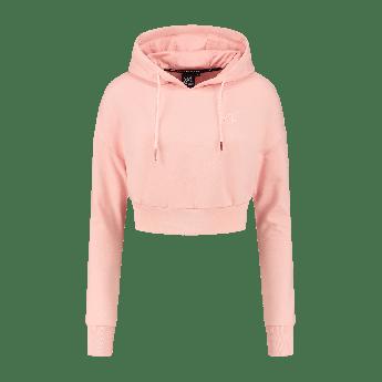 XXL Sportswear Women's essential Cropped hoodie – Powder Pink