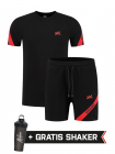XXL Sportswear Malelions Pre-match Set - Black Red
